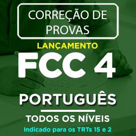 Correção de Provas  FCC IV – PORTUGUÊS